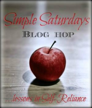 Simple Saturdays Blog Hop November 22