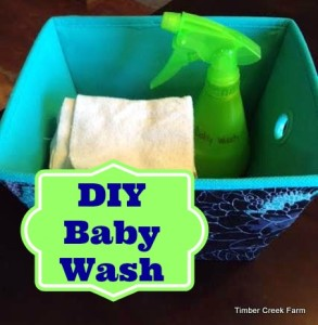 DIY Baby Wash by Timber Creek Farm - featured at Natural Family Friday