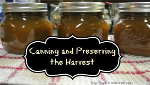 Canning and Preserving the Harvest