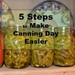 5 Steps to Make Canning Day Easier