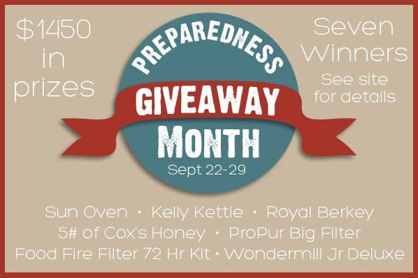 Preparedness  Month Mega Giveaway
