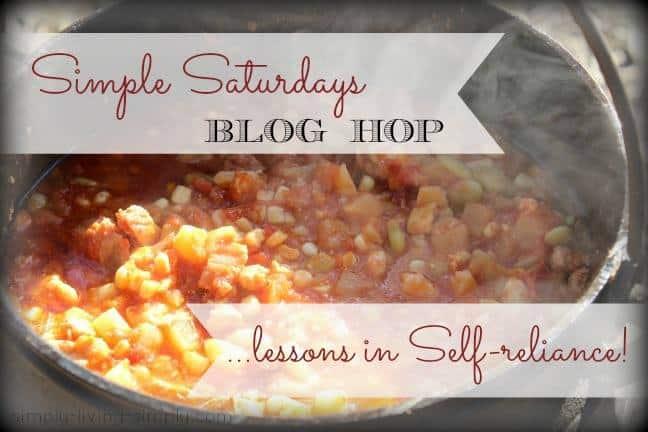 Simple Saturdays Blog Hop #71