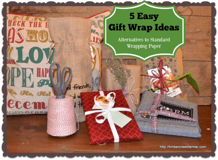 5 Easy Gift Wrap Ideas