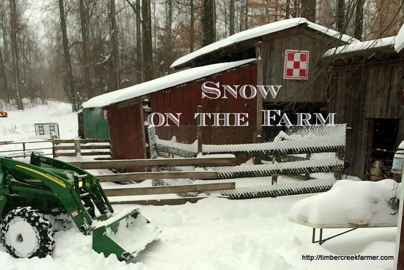 Snow on the Farm – Blizzard 2016