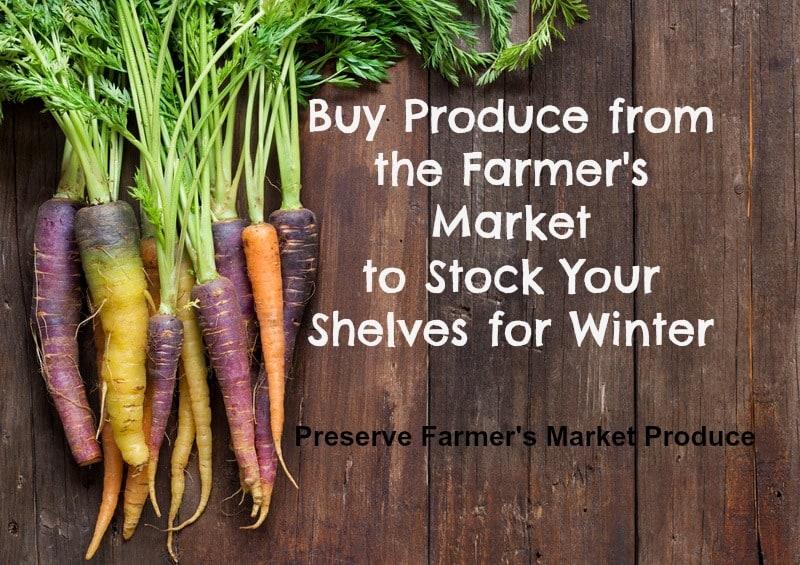 Preserve Farmers Market Produce