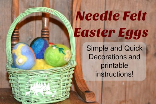 Needle Felt Easter Eggs – Simple and Quick