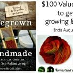 Homegrown and Handmade Review and Giveaway Offer