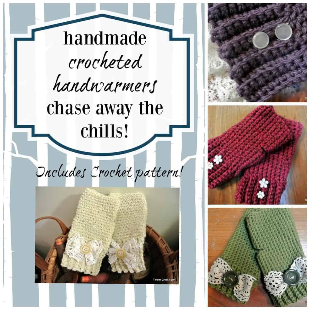 crocheted handwarmers