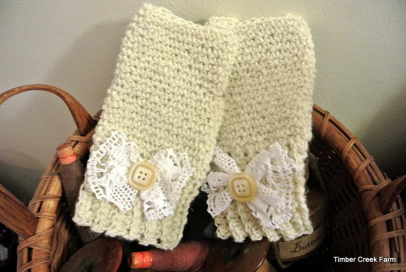 How To Make Crocheted Handwarmers With Ribbed Cuffs Timber Creek Farm