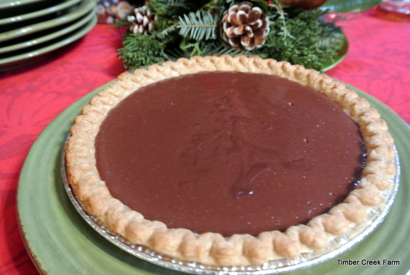 chocolate cream pie normally i stick to pumpkin pie peach pie and apple pie when baking pies for our christmas dinner this year i decided to shake - Christmas Pies