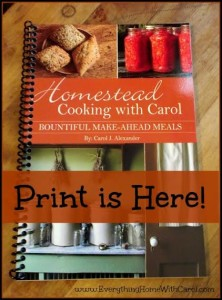 carol cookbook print version