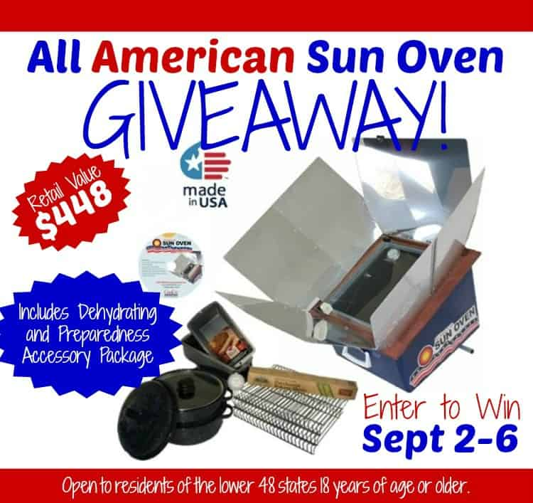 Sun Oven Giveaway for Emergency Preparedness Month