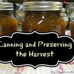 Canning, Preserving and Storing the Harvest