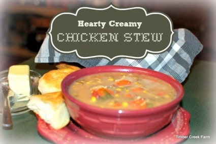 Hearty Creamy Chicken Stew