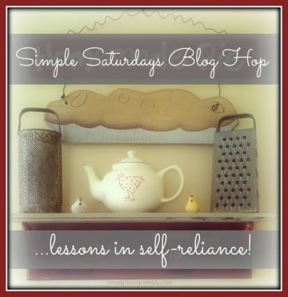 Simple Saturdays Blog Hop