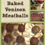 Baked Venison Meatballs