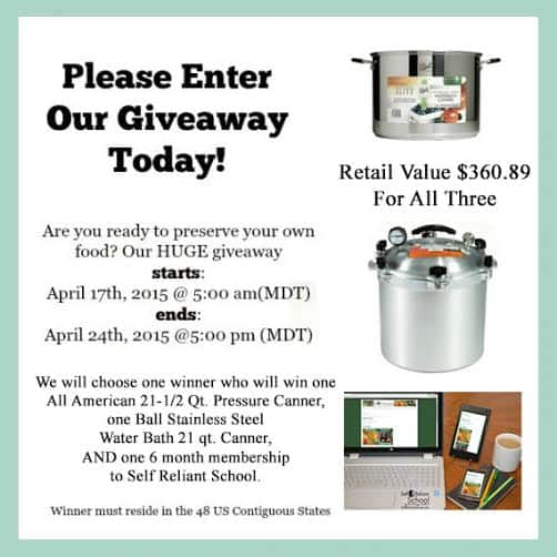 Ultimate Canner Giveaway!