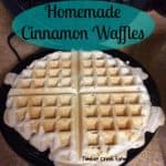 Healthy Homemade Cinnamon Waffles Recipe