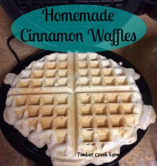 homemade cinnamon waffles