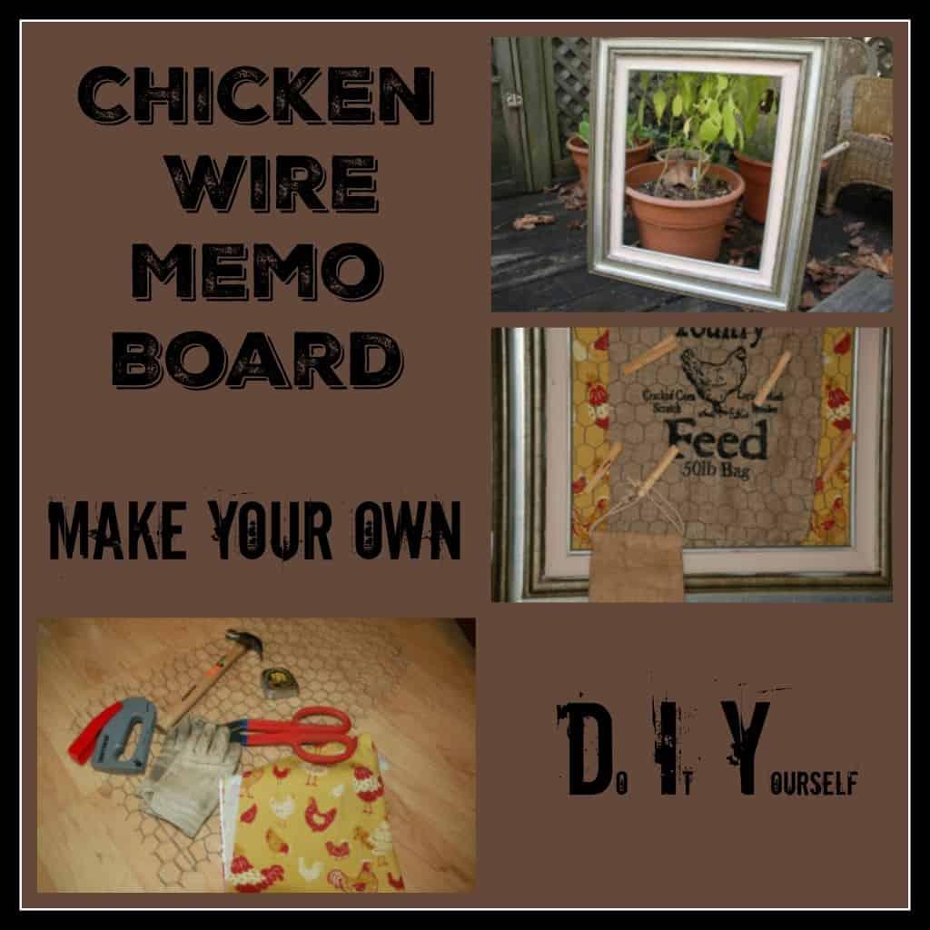 chicken wire memo board 1