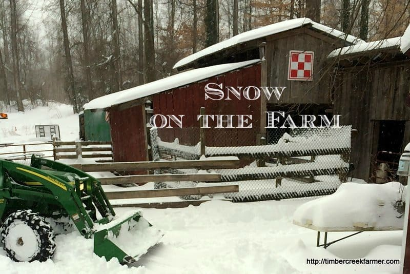 Snow on the Farm – Blizzard 2016