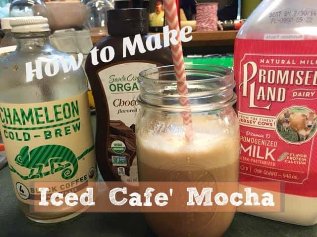 3 Ingredient Homemade Iced Cafe Mocha