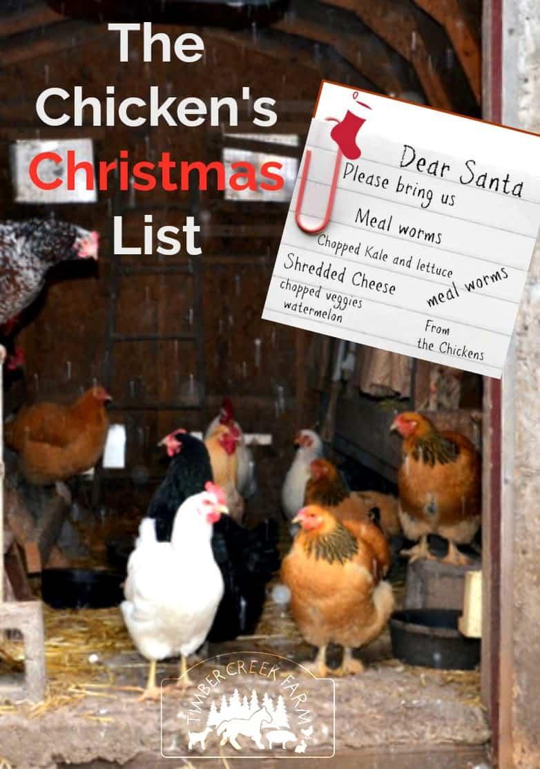 chicken's christmas list