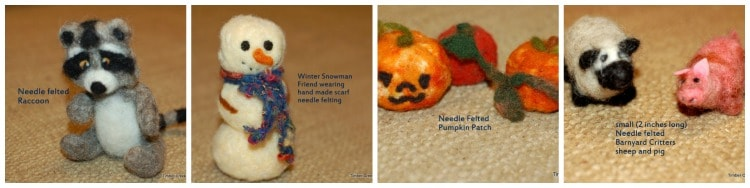 needle felt easter eggs