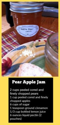 pear apple jam