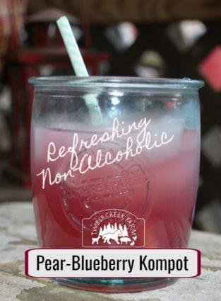 pear blueberry kompot refreshing non-alcoholic fruit beverage