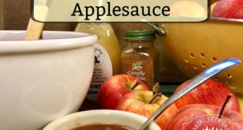 Honey Cinnamon Applesauce in the Crockpot
