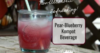 Pear Blueberry Kompot Beverage