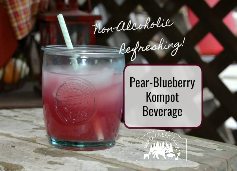 Pear Blueberry Kompot Refreshing non-alcoholic fruit beverage