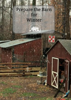 prepare the barn for winter