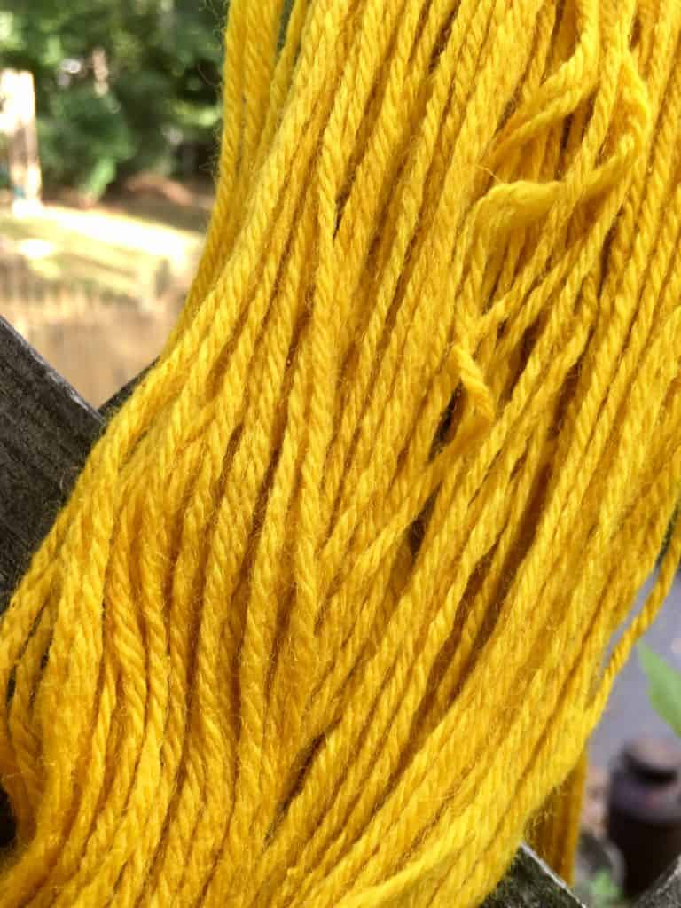 naturally dyeing homestead wool