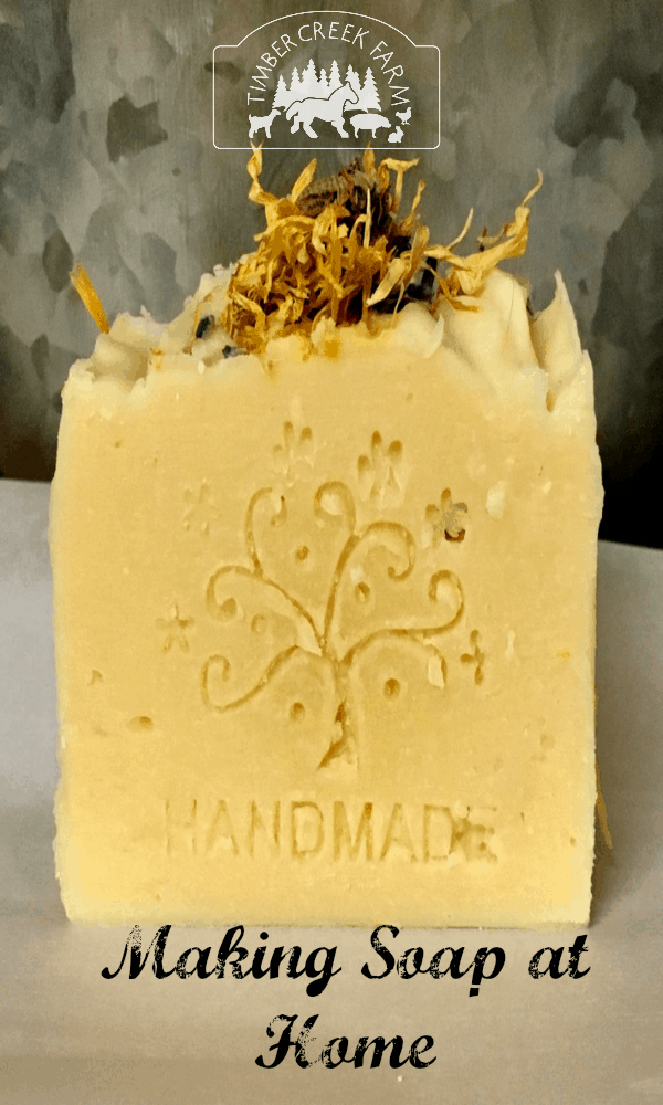 making soap at home