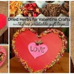 DIY Dried Herbs Valentine Projects