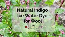 indigo ice water dye