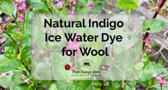 Natural Indigo Ice Water Dye for Wool