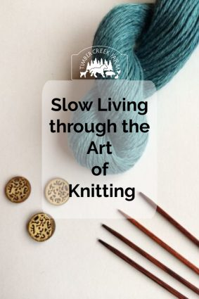 slow living through the art of knitting