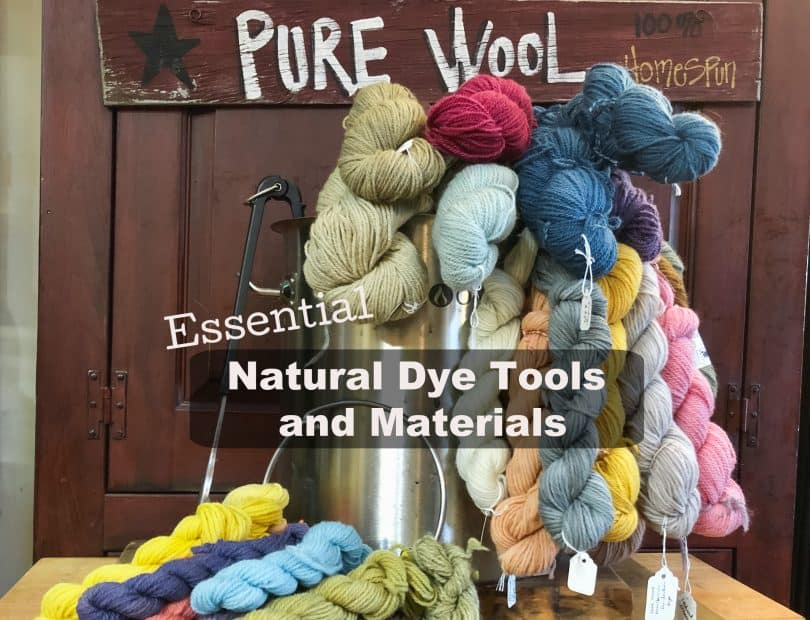 natural dye tools and materials