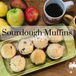 Sourdough Muffins with  Berries and Bananas